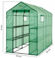 Ogrow Extra Large Heavy Duty WALK-IN 2 Tier 12 Shelf Portable Lawn and Garden Greenhouse - 2 Tier 12 Shelves