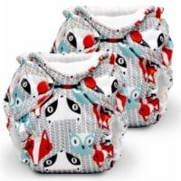 Kanga Care Lil Joey Newborn All in One AIO Cloth Diaper (2pk) Clyde 4-12lbs - Newborn