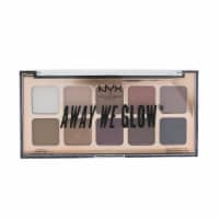 NYX Away We Glow Shadow Palette (10x Eyeshadow)  # Lovebeam 10x1g/0.03oz - 10x1g/0.03oz