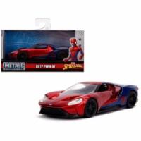 Jada 30291 2017 Ford GT Spider-Man Theme Marvel Series 1-32 Diecast Model Car