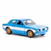Jada Toys 97188 1 isto 32 Brians Ford Escort Fast & Furious Movie Diecast Model Car, Blue & W - 1