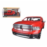 2014 Dodge Ram 1500 Pickup Truck Red \Just Trucks\ with Extra Wheels 1/24 Diecast Model - 1