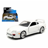 "Brian\'s Toyota Supra White \Fast & Furious 7\ Movie 1/32 Diecast Model Car by Jada """""" - 1"