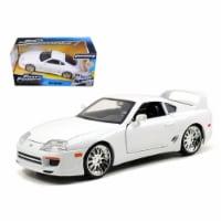 Brian\'s Toyota Supra White \Fast & Furious\ Movie 1/24 Diecast Car Model by Jada - 1