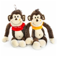 Giftable World AW120002 12.5 in. Monkey with T-Shirt - 2 Assorted Color