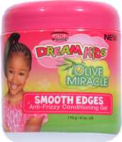 African Pride Dream Kids Olive Miracle Smooth Edges Anti-Frizzy Conditioning Gel - 6 oz