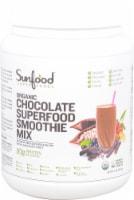 Sunfood Organic Gluten Free Chocolate Superfood Smoothie Mix - 2.2 lb