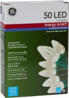 GE LED C-3 Energy Smart Lights 50 Count – Warm White/Green