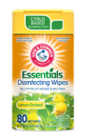 Arm and Hammer Essentials Lemon Orchard Disinfecting Wet Wipes