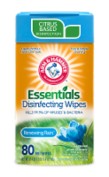 Arm and Hammer Essentials Renewing Rain Disinfecting Wet Wipes