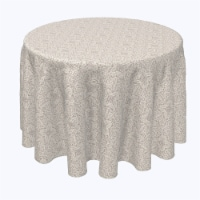 """Round Tablecloth, 100% Polyester, 120"""" Round, Abstract Detailed Lace"""
