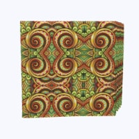 "Napkin Set, 100% Polyester, Set of 12, 18x18"", Abstract Kaleidoscope Paisley"