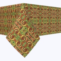 """Square Tablecloth, 100% Polyester, 60x60"""", Abstract Kaleidoscope Paisley"""