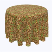 """Round Tablecloth, 100% Polyester, 70"""" Round, Abstract Kaleidoscope Paisley - 1 Product"""