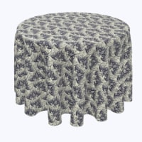 """Round Tablecloth, 100% Polyester, 114"""" Round, Abstract Lace Bats"""