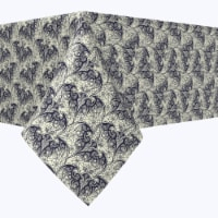 """Rectangular Tablecloth, 100% Polyester, 60x84"""", Abstract Lace Bats"""