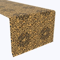 """Table Runner, 100% Polyester, 12x72"""", Abstract Leopard Spots - 1 Product"""