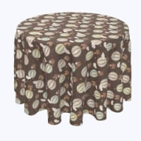 """Round Tablecloth, 100% Polyester, 96"""" Round, Animals in Hot Air Balloons - 1 Product"""