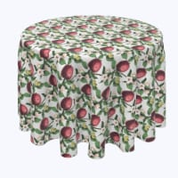 """Round Tablecloth, 100% Polyester, 108"""" Round, Apples in Branches - 1 Product"""