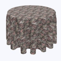 """Round Tablecloth, 100% Polyester, 84"""" Round, Art Deco Lace"""