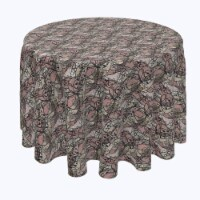 """Round Tablecloth, 100% Polyester, 96"""" Round, Art Deco Lace"""