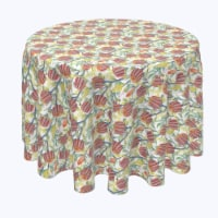 """Round Tablecloth, 100% Polyester, 84"""" Round, Australian Banksia - 1 Product"""