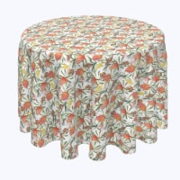 """Round Tablecloth, 100% Polyester, 108"""" Round, Australian Tropical Flowers - 1 Product"""