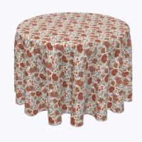 """Round Tablecloth, 100% Polyester, 114"""" Round, Autumn Paisley - 1 Product"""