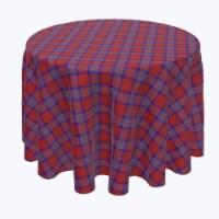 "Round Tablecloth, 100% Polyester, 102"" Round, Autumn Tartan Plaid"