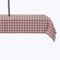 """Water Repellent, Outdoor, 100% Polyester, 60x84"""", Black & Red Houndstooth"""