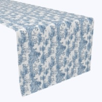 "Table Runner, 100% Polyester, 12x72"", Chinoiserie Design"