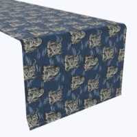 """Table Runner, 100% Polyester, 12x72"""", Chinoiserie Tiger"""