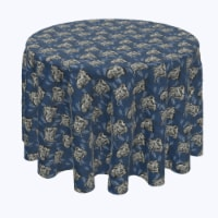 """Round Tablecloth, 100% Polyester, 84"""" Round, Chinoiserie Tiger"""