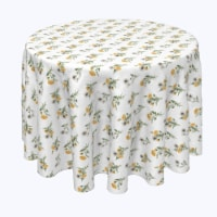 """Round Tablecloth, 100% Polyester, 120"""" Round, Dandelions - 1 Product"""