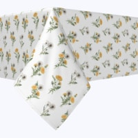 """Square Tablecloth, 100% Polyester, 84x84"""", Dandelions - 1 Product"""