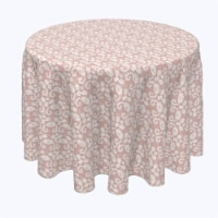 """Round Tablecloth, 100% Polyester, 96"""" Round, Decorative Flowers on Lace"""