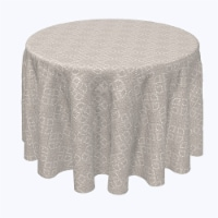 """Round Tablecloth, 100% Polyester, 84"""" Round, Detailed Lacework"""