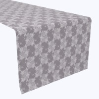 """Table Runner, 100% Polyester, 12x72"""", Floral Lace Check"""