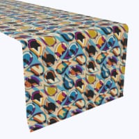 """Table Runner, 100% Polyester, 12x72"""", Geometric Houndstooth"""