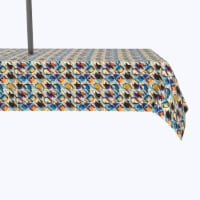"""Water Repellent, Outdoor, 100% Polyester, 60x104"""", Geometric Houndstooth"""
