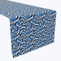 "Table Runner, 100% Polyester, 14x108"", Geometric Stripes in Swirls"