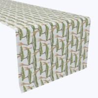 """Table Runner, 100% Polyester, 12x72"""", Giraffes in Stripes"""
