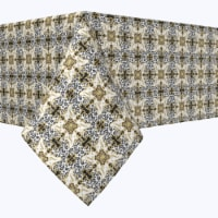 """Square Tablecloth, 100% Polyester, 90x90"""", Golden Leopard - 1 Product"""