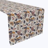 "Table Runner, 100% Polyester, 12x72"", Hoopoes Birds & Flowers"