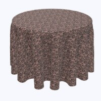 """Round Tablecloth, 100% Polyester, 90"""" Round, Lace Floral Drawing"""