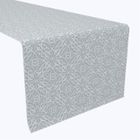 """Table Runner, 100% Polyester, 12x72"""", Lace Swirls"""