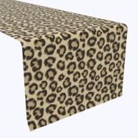 "Table Runner, 100% Polyester, 14x108"", Leopard Fur"