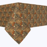 """Square Tablecloth, 100% Polyester, 84x84"""", Leopards"""