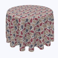 """Round Tablecloth, 100% Polyester, 60"""" Round, Oriental Batik - 1 Product"""