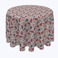"""Round Tablecloth, 100% Polyester, 70"""" Round, Oriental Batik - 1 Product"""